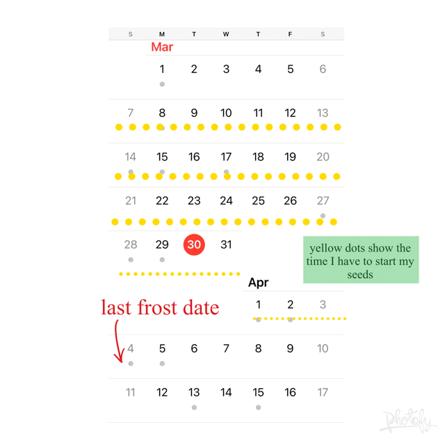 a calendar showing the month of march