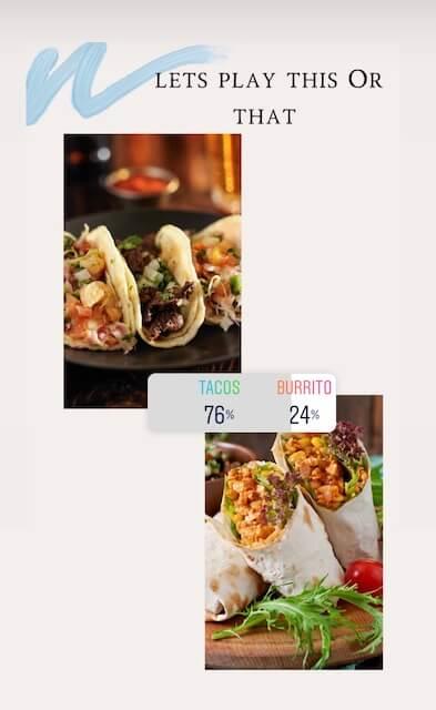 taco poll on instagram